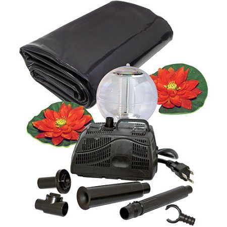 Koolscape 270 gal Liner Pond Kit with Solar Light (Underwater Pond Liner Patch Kits compare prices)