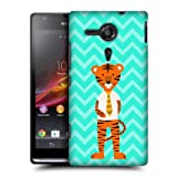 Head Case Tiger Businessman Trendy Animals Back Case For Sony Xperia Sp C5303