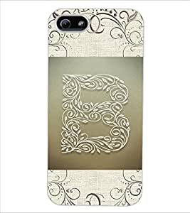 "ColourCraft Alphabet ""B"" Design Back Case Cover for APPLE IPHONE 5S"