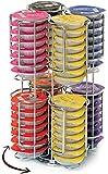 Coffee Shop - Maximus CH0018 - Porte Capsules Distributeur Présentoir Rotatif pour 64 capsules Tassimo Acier chromé