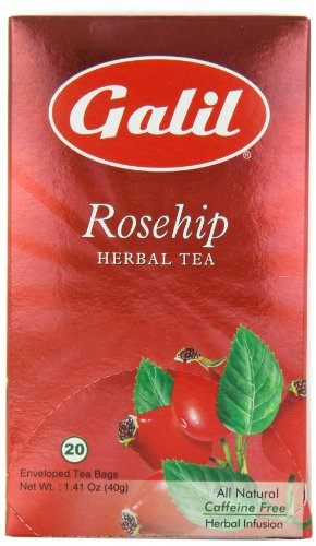 Galil Tea, Rosehip & Hibiscus, 20-Count Boxes (Pack Of 6)