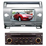 ChiLin Citroen C4(Silver White) Intelligent Navigation System with High Touchscreen GPS DVD Player Built-in GPS,Bluetooth,TV,AM/FM with RDS, iPod,steering wheel control,rear view camera input