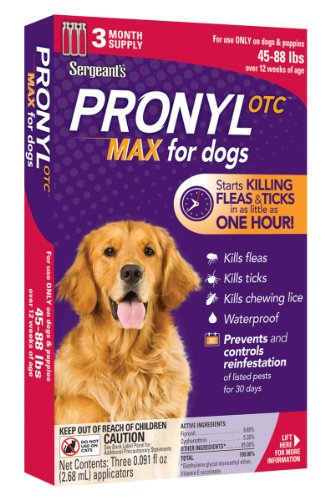 Sergeant's Pronyl OTC Max Dog Flea and Tick Sqz-On