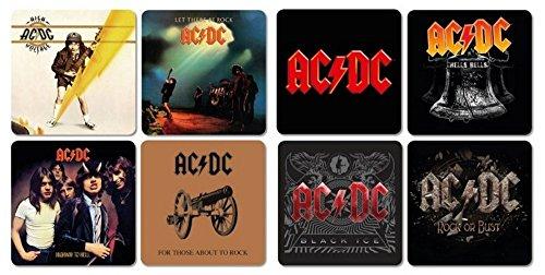 AC DC-Sottobicchieri Coaster Set di 8-Best of Mix