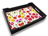 Nutcase Designer Wooden Serving Trays for Kitchen Serving/Dining (13x9) inch - Pretty Little Flowers