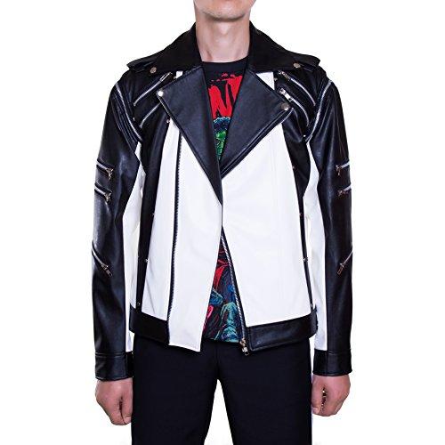 [Mjb2c - Michael Jackson Costume - Pepsi Metal Zipper Leather Jacket - Xx-large] (Pepsi Costume Halloween)