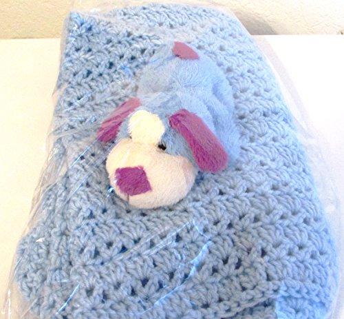 Baby Gift Blanket Handmade in USA (Blue)