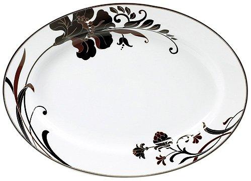 "Mikasa Cocoa Blossom Oval Platter, Floral, 16"""