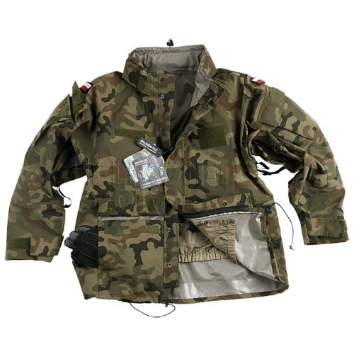 Helikon ECWCS Jacket Military Waterproof Parka Polish Woodland Camo