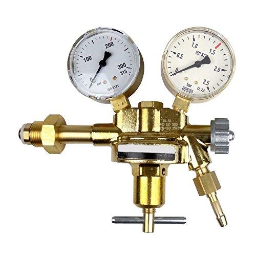 Druckminderer Druckluft 200bar Pressluft für Druckluftflasche Pressluftflasche 0-1,5 bar von Gase Dopp