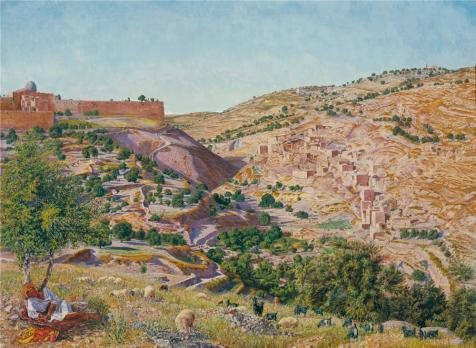 Oil Painting 'Thomas Seddon - Jerusalem, The Valley Of Jehoshaphat From The Hill Of Evil Counsel,1854-1855' 12 x 16 inch / 30 x 42 cm , on High Definition HD canvas prints, Basement, Foyer, Ga decor (Dirt Evil Vacuum Cleaner compare prices)