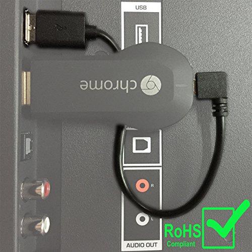 Exinoz Chromecast USB-Kabel - USB-Kabel für Ihren Google Chromecast HDMI Streaming Mediaplayer von der USB-Schnittstelle Ihres Fernsehers