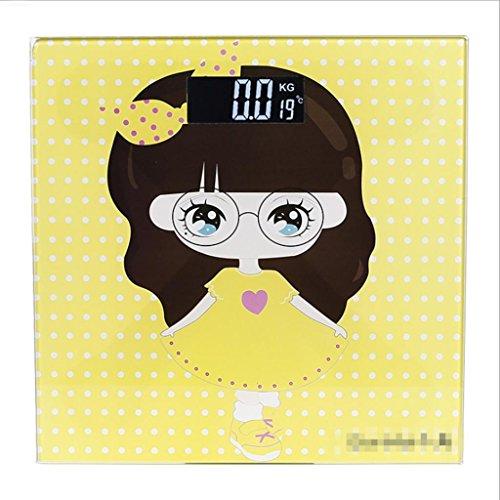 GYMNLJY Scala elettronica della famiglia corpo scala precisione Cartoon girl serie Smart Mini pesatura bilance , 4