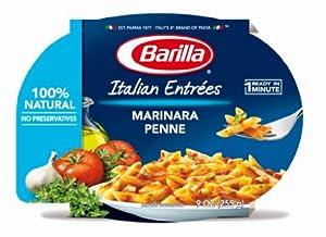 Barilla Marinara Penne Italian Entree, 9 Ounce Microwavable Bowls (Pack of 6)