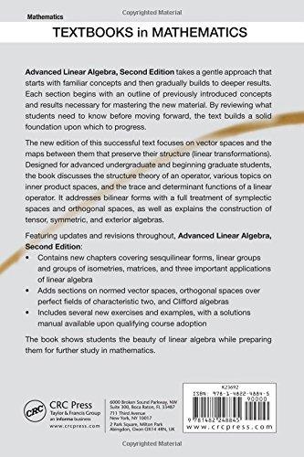 Advanced Linear Algebra, Second Edition (Textbooks in Mathematics)