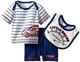 Baby Togs Baby-boys Newborn Racecar 3 Piece Short And Bib Set