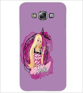 PrintDhaba Barbie D-1078 Back Case Cover for SAMSUNG GALAXY A7 (Multi-Coloured)