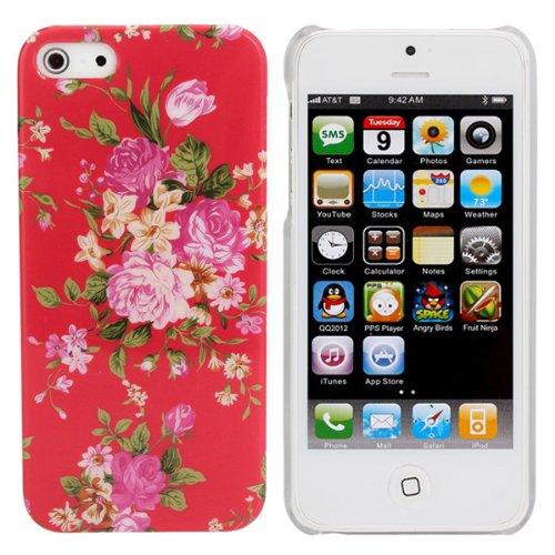 flor-roja-modelo-retro-caja-trasera-dura-cubierta-de-plastico-para-el-iphone-5