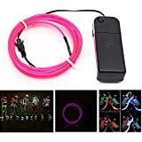9ft Pink Neon Glowing Electroluminescent Wire (El Wire)