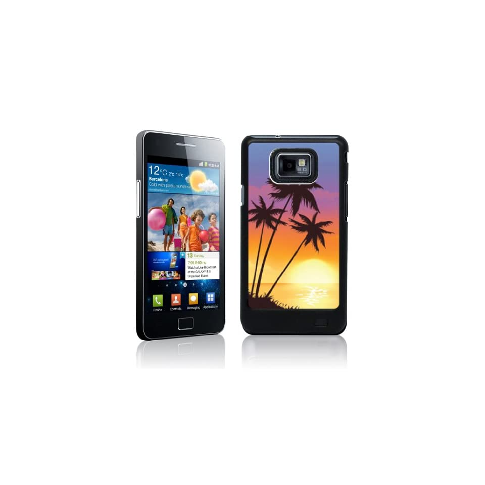 Beach Samsung Galaxy s3 Black Phone Case Designs Sunset on Beach   Black Protective Hard Case