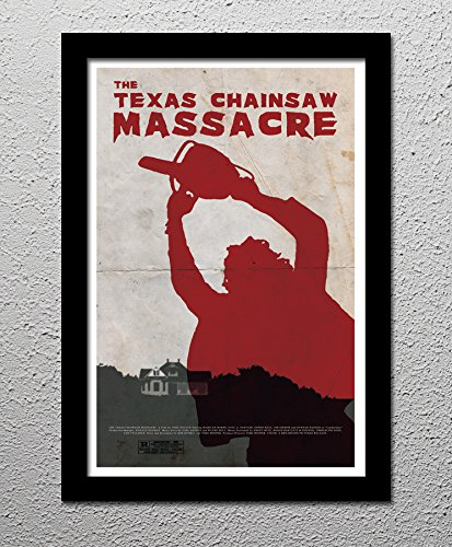 The Texas Chainsaw Massacre - Tobe Hooper - Horror Movie - Original Minimalist Art Poster Print (Premium Cult Edition compare prices)
