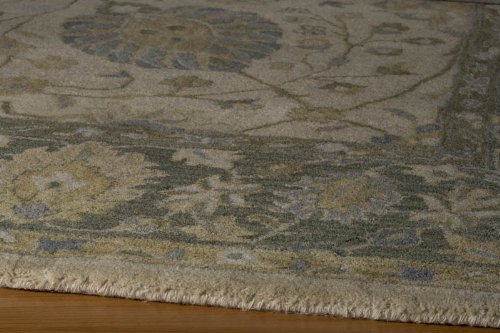 Zarin Collection 100% Indian Wool Indian Hand Tufted Carpet/Rug Color:ALMOND Size:5