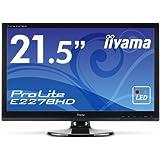 Iiyama E2278HD-GB1 Ecran PC sans tuner LED 22'' 1920 x 1080 Noir