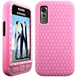 Wayzon Baby Pink Samsung Tocco Lite S5230 Case Cover Skin Pouch Silica Rubber With Diamonds Studded In