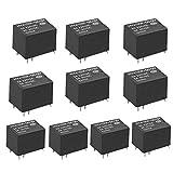 SODIAL(R)10個入りミニ電子パワーリレーDC12V