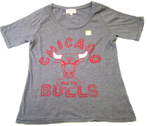 Chicago Bulls NBA Women's Boat Neck Relaxed Fit T-shirt By Junk Food (XXlarge) at Amazon.com