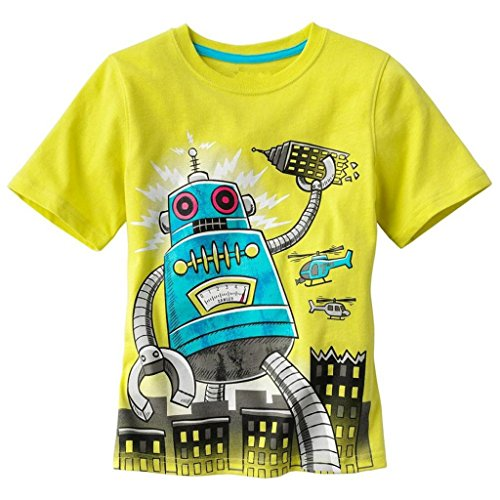 Baby Box Little Boys' kids Toddler Short Sleeve T-Shirts Size 5T (Robot 5t compare prices)