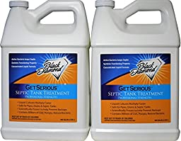 GET SERIOUS Septic Tank Treatment Liquid Natural Enzymes For Residential, Commercial, Industrial, RV\'s System. (2, gallon)