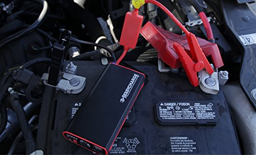 EZ Charge Car, Motorcycle and Truck Jump Starter, 400 Peak Amps, Portable battery back, External Battery