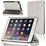 Forefront Cases Leather Case Cover/Stand with Magnetic Auto Sleep Wake Function for Apple iPad Mini - White