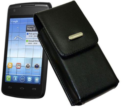 Vertikal Tasche fuer / Alcatel One Touch 992D (Dual-Sim) / Handytasche mit einer Guertelschlaufe auf der Rueckseite