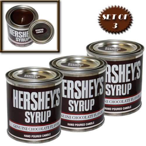 HERSHEY'S SYRUP SCENTED CANDLE 8 OZ. NOW WITH 45% LONGER BURN TIME! (SET OF 3)