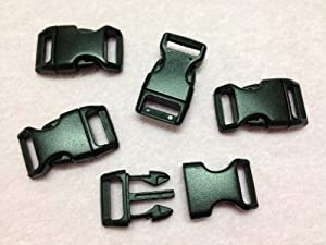 "10pc Black 5/8"" (15mm) Contoured Side-release Plastic Buckles"