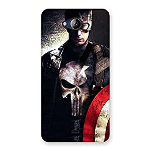 Cute Punish Sheild Multicolor Back Case Cover for Canvas Play Q355