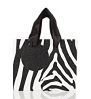 Glitter Zebra Striped Small Bag