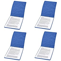 ACCO PRESSTEX Report Covers, Top Bound, 8.5 x 11 Inches, 2 Inch Capacity, Dark Blue (A7017023), 4 Packs