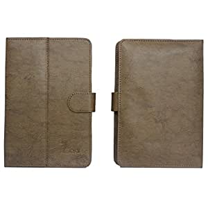 Jo Jo G3 Tiachi Flip Flap Case Cover Pouch Carry For Lenovo Ideatab A2107 (3G) Light Brown