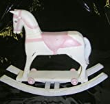 Rustic Polyresin Rocking Horse Ornament 21cm