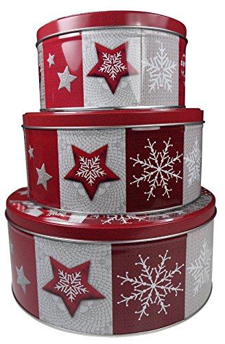 khevga Keksdose Weihnachten Blech 'Plätzchendose' Set...