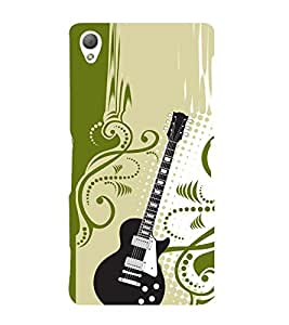 Floral Guitar 3D Hard Polycarbonate Designer Back Case Cover for Sony Xperia Z3 :: Sony Xperia Z3 D6653 D6603