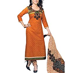 Foram Fashion Women's Cotton Unstitched Dress Material (FF03_Multi-Coloured_Freesize)