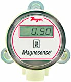 "Dwyer Magnesense Series MS Differential Pressure Transmitter, Bidirectional Unit, 4-20 mA, Low Range 0.1, 0.25, 0.5""WC & 25, 50, 100 Pa, Wall Mount, LCD"