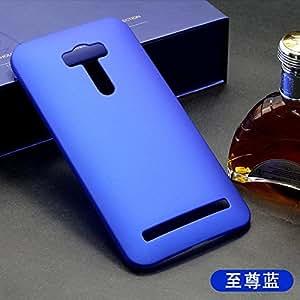 CZap Tough Case Hard Matte Rubberized Back Cover for ASUS Zenone Selfie - Blue