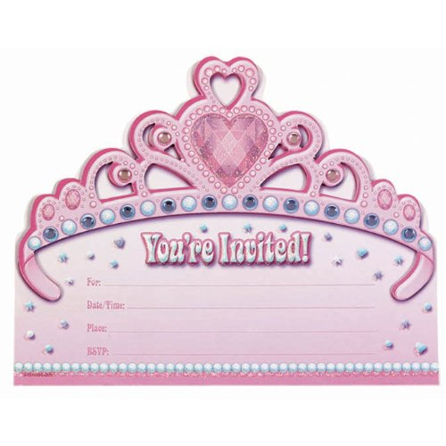 Jumbo Princess Invitations Party Accessory