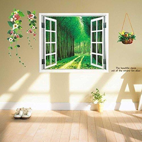 Walplus adesivi decorativi da parete vista fiume in 3d for Adesivi parete 3d