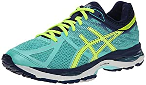 ASICS Women's Gel-cumulus 17 Running Shoe, Aqua Mint/Flash Yellow/Navy, 5.5 2A US